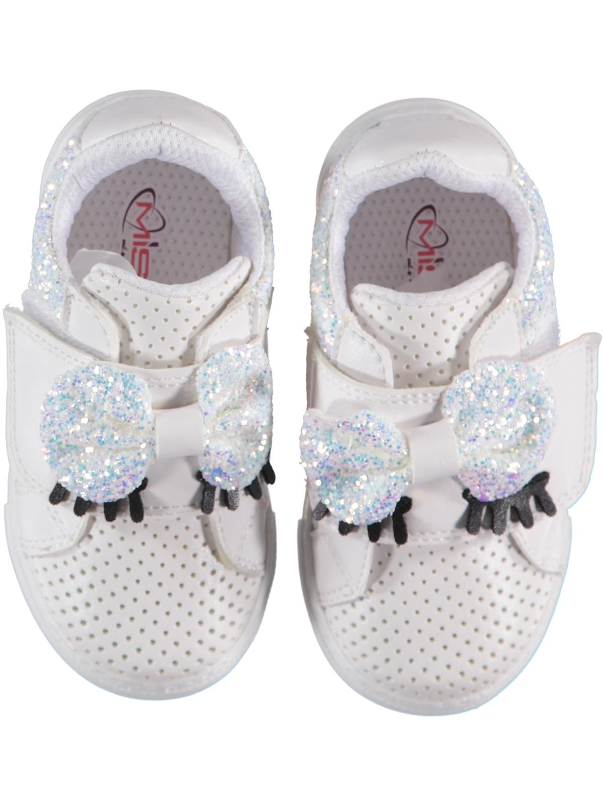 Missiva White Baby Girl Sneakers 21-25 Number