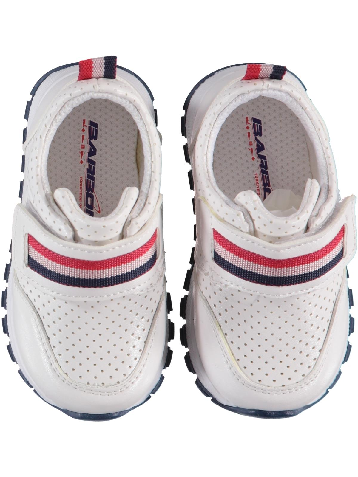 Barbone Baby Boy White Sneakers 21-25 Number