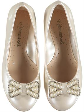 Missiva Girls Cream Ballet Flats 31-36 Number