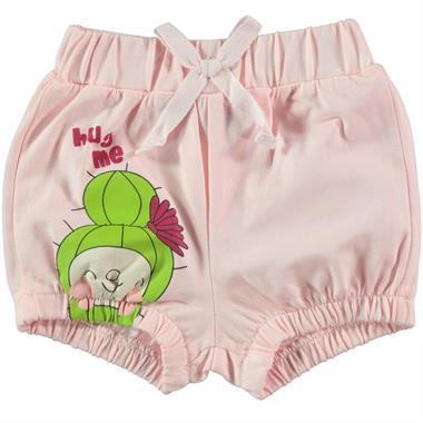 Kujju Powder Pink Shorts Baby Girl Age 6-18