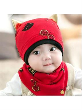 Lava Baby Team red Beret and scarf