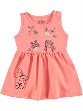 Kujju Kız Bebek Elbise 6-18 Ay Oranj