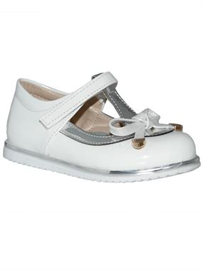 Missiva Girls White Ballet Flats 21-25 Number