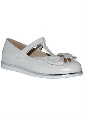 Missiva Number 26-30 Girls Ballet Flats White