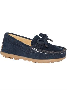 Barbone Boy Navy Blue Suede Shoes 21-25 Number
