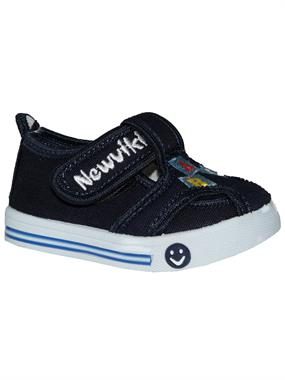 Newviki The Number Of Baby Boy Shoes Navy Blue Linen 20-25