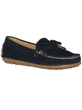 Barbone Navy Blue Suede Shoes Boy 31-35 Number