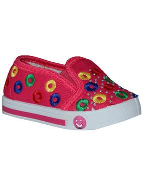 Newviki The Number Of Baby Girls Shoes Fuchsia Linen 20-25