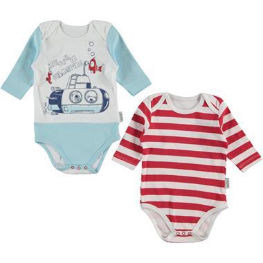 Kujju Baby boy 2-3-9 months blue Bodysuit with snaps