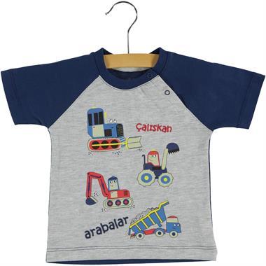Kujju Baby Boy T-Shirt-Navy Blue 6-18 Months