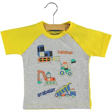 Kujju Baby Boy T-Shirt Yellow-6-18 Months