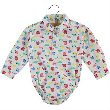 Civil Baby 6-18 Months Baby Boy White Bodysuit With Snaps