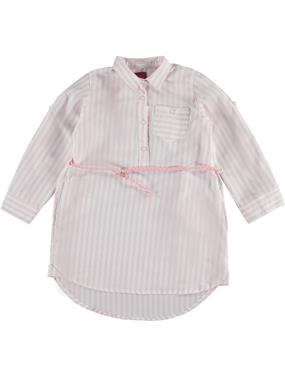 Civil Girls Powder Pink Striped Tunic Shirt Age 6-9