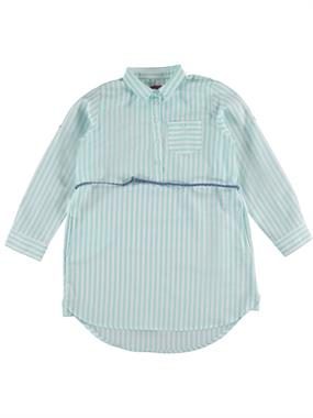 Civil Girls Age 10-13 Striped Tunic Shirt Yesil