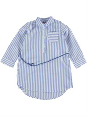 Civil Girls Blue Striped Tunic Shirt Age 6-9