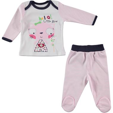 Kujju Baby Girl 3-6 Months Pink Suit