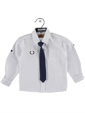 Civil Boys Boy Shirt With Tie White 2-5 Years