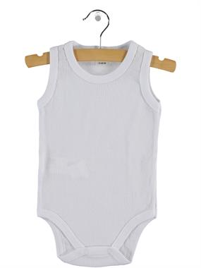 Civil Baby 0-12 Months White Baby Bodysuit With Snaps