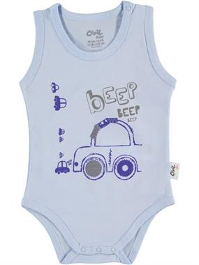 Civil Baby 0-18 Months, Baby Boy Blue Bodysuit With Snaps