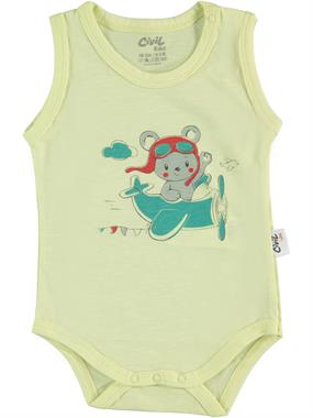 Civil Baby Yellow 0-18 Months, Baby Boy Bodysuit With Snaps