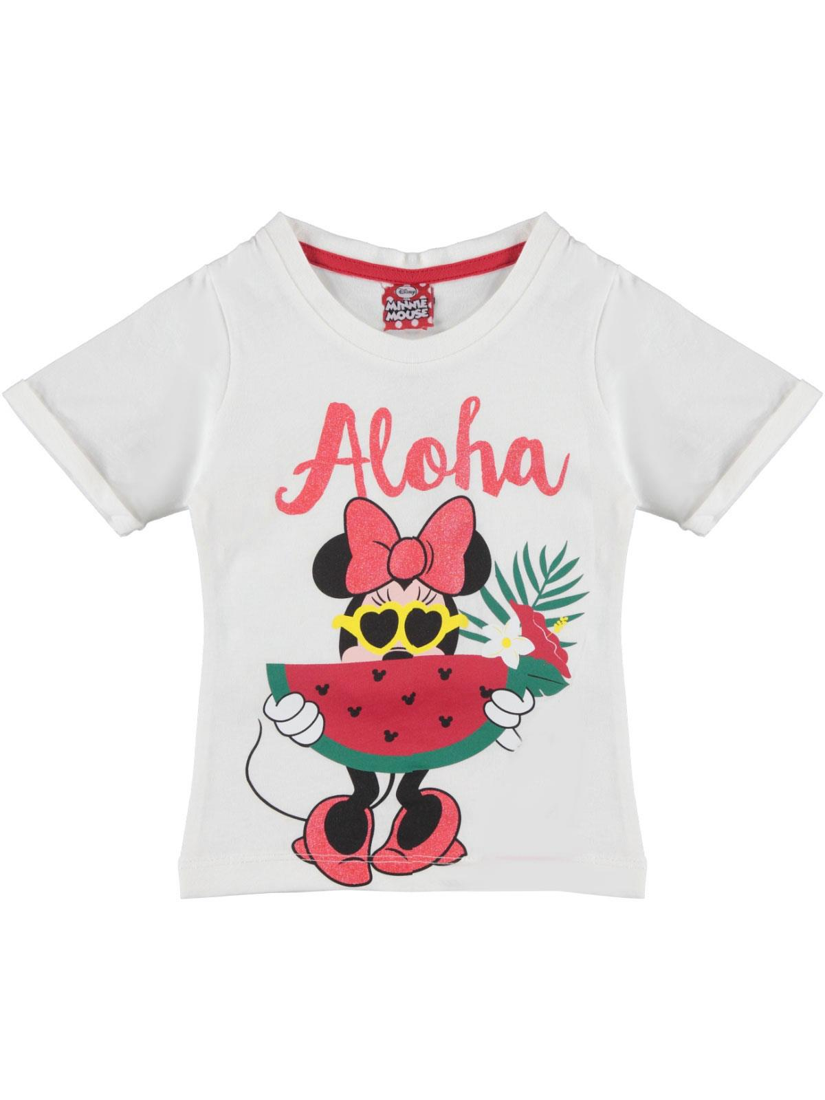 Minnie Mouse Girl Kids T-Shirt Ecru Age 1-4