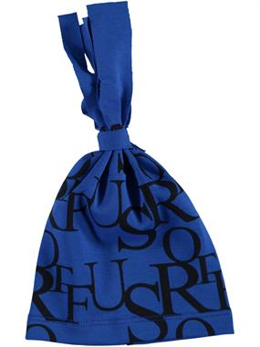 Albimama Blue Letters Patterned Beanie Baby Age 0-2 Saks