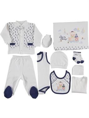 Nenny Baby 10 Newborn baby boy navy blue Team Zibin