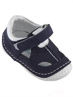 Baby Force Navy Blue Baby Boy First Step Shoes, 18-21 Number