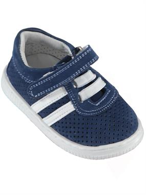 Baby Force Navy Blue Baby Boy First Step Shoes, 19-22 Number