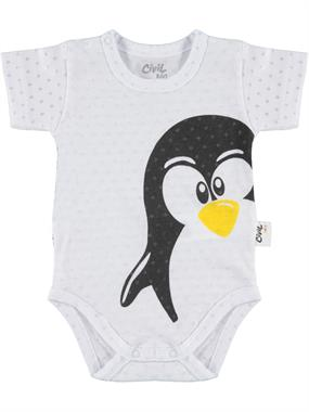 Civil Baby 0-18 Months White Baby Bodysuit With Snaps