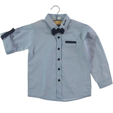 Civil Boys Age 6-9 Boy Blue Shirt With A Bow Tie