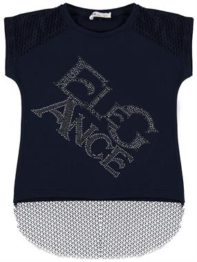 Civil Girls Girl Kids T-Shirt Navy Blue Age 6-9