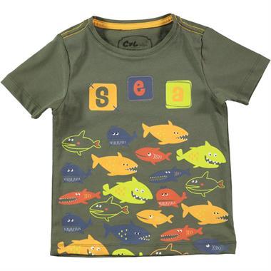 Cvl Boy T-Shirt Khaki Age 2-5