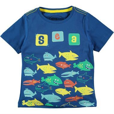Cvl Boy T-Shirt Petrol Blue 2-5 Years