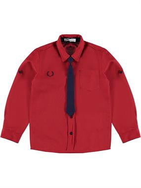 Civil Boys Shirt With Red Tie Boy Age 6-9