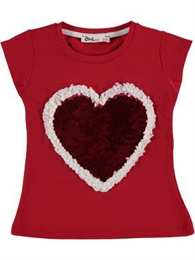 Civil Girls Girl Kids T-Shirt Red Age 2-5