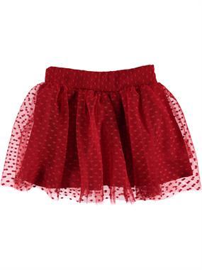 Civil Girls Red Tulle Skirt For Girls Age 6-9