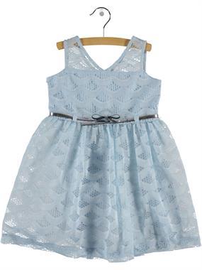 Civil Girls Kız Çocuk Dantel Elbise 6-9 Yaş Mavi