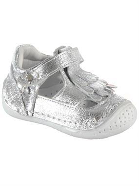 Baby Force Kız Bebek Deri İlkadım Ayakkabı 18-21 Numara Gümüş
