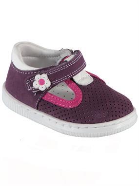 Baby Force Kız Bebek Deri İlkadım Ayakkabı 19-22 Numara Mor