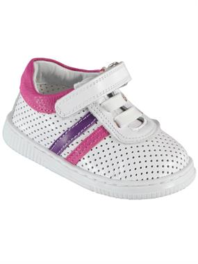 Baby Force White Baby Girl First Step Shoes Number 19-22