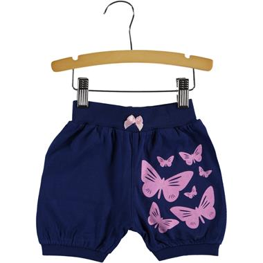 Civil Girls 2-5 Years Baby Girl Shorts Navy Blue