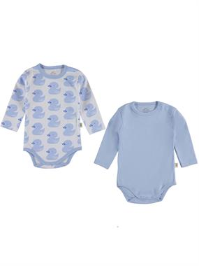 Minidamla 2 baby-Blue Bodysuit with snaps for age 2-4