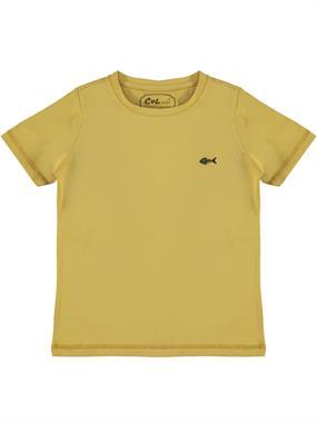 Cvl Boy T-Shirt Age 6-9 Mustard