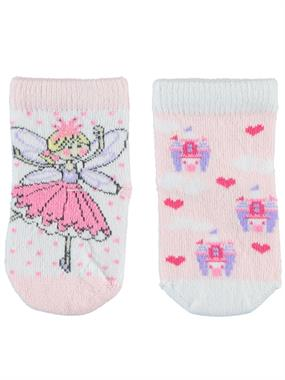 Katamino Baby girl socks-set of 2 Pink, 0-18 Months