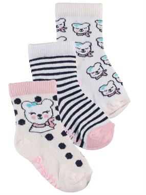 Artı Baby girl 3-Sock Set 0-18 Months Powder