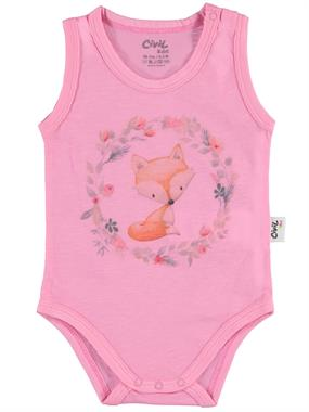 Civil Baby Fuchsia 0-18 Months Baby Girl Bodysuit With Snaps