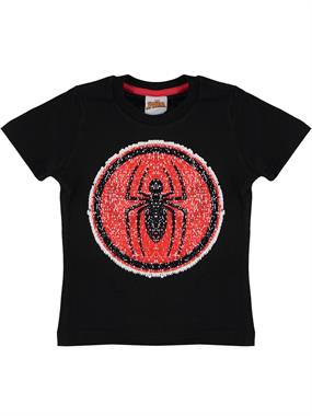 Spiderman Boy T-Shirt Black Ages 3-8