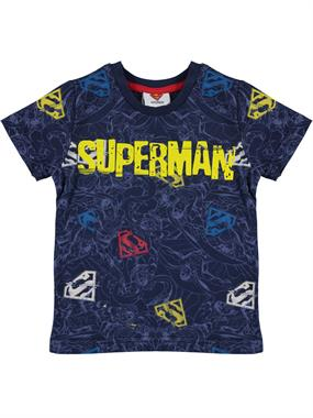 Superman Boy T-Shirt-Navy Blue Ages 3-8