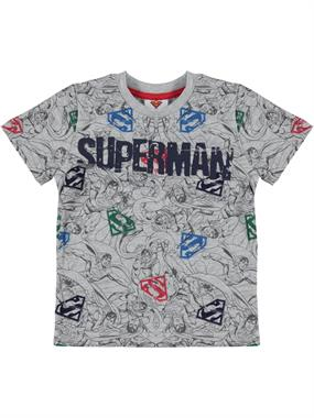 Superman Boy T-Shirt Ages 3-8 Gray